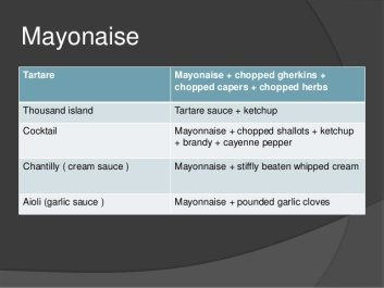 mayonnaise + 2