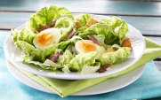 CaesarSalad-SoftBoiledEggsBacon