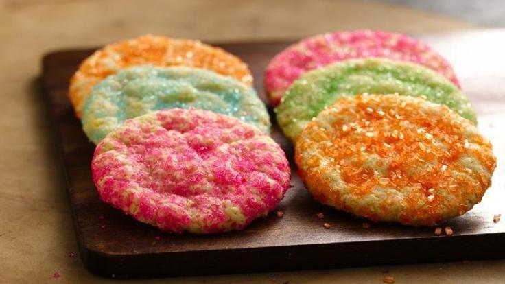 coloured cookies