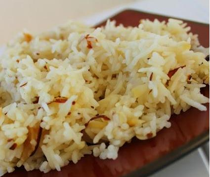 basmatti rice with almonds