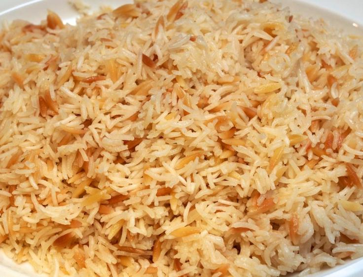 basmati with almonds