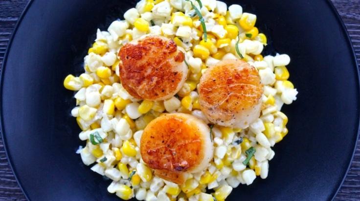 seared scallops with cream corn 2