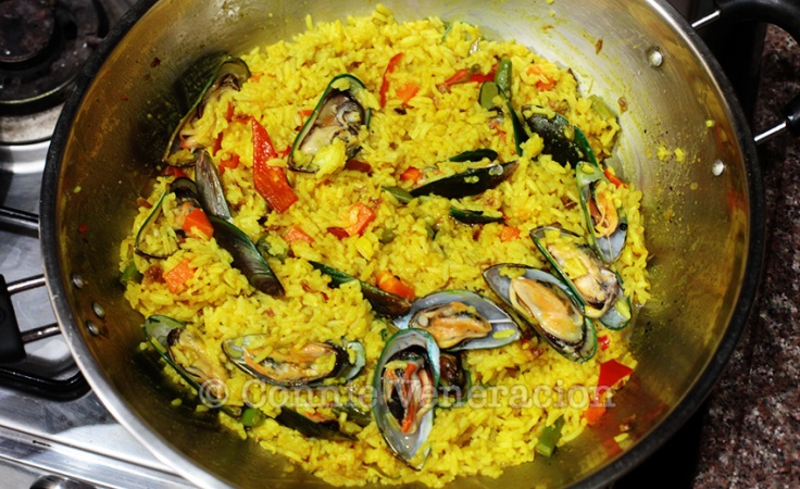 turmeric-rice AND MUSSELS